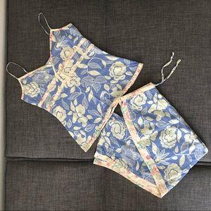 Anthropologie Eloise silk/cotton Pajama Set